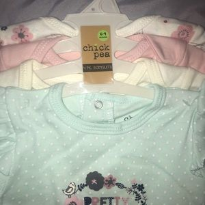 """SZ 6-9M NEW CHICK PEA /""""MY FIRST EASTER/"""" BABY GIRL/'S PINK BODYSUIT"""